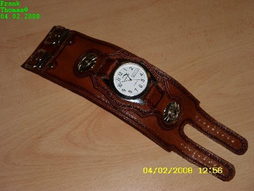 Lederarmband punzieren  armband
